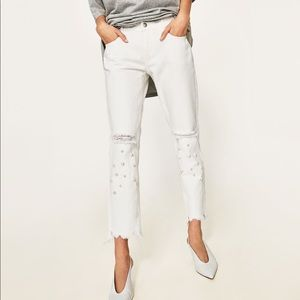 Distressed Jeans with Pearls